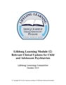 Lifelong Learning Module 12