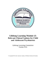 Lifelong Learning Module 13