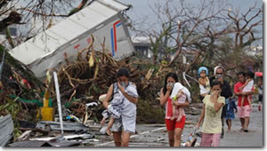 Typhoon in the Phillippines