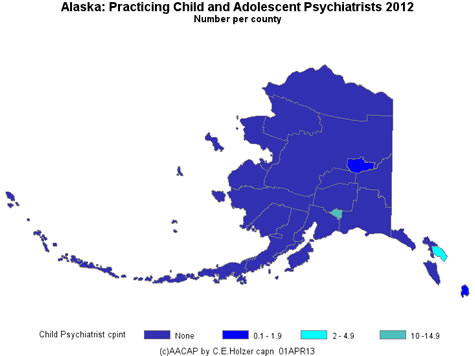 Alaska- Practicing CAPs Per County 2009