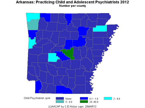 Arkansas - Practicing CAPs Per County 2009