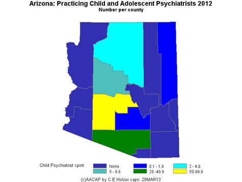 Arizona - Practicing CAPs Per County 2009