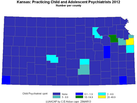 Kansas - Practicing CAPs Per County 2009