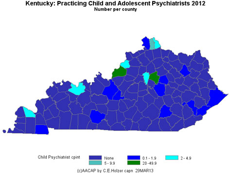 Kentucky - Practicing CAPs Per County 2009