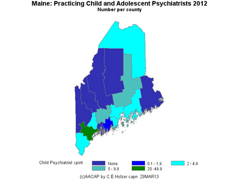 Maine - Practicing CAPs Per County 2009