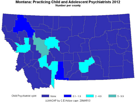 Montana - Practicing CAPs Per County 2009