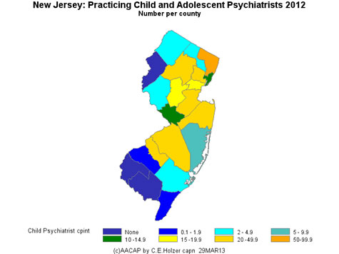 New Jersey - Practicing CAPs Per County 2009
