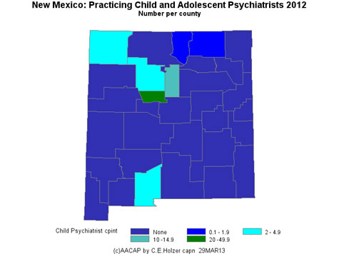 New Mexico - Practicing CAPs Per County 2009