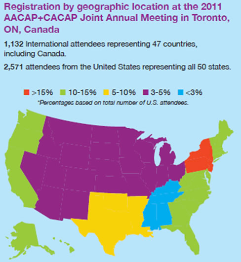 Registration by Geographic Location at the 2011 Annual Meeting