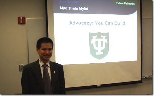 Myo Thwin Myint - Advocacy You Can Do It Image
