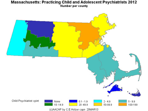 Massachusetts - Practicing CAPs Per County 2009